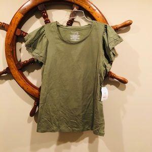 Time&Tru green short sleeve shirt size small